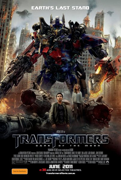 "Poster for ""Transformers: Dark of the Moon"""