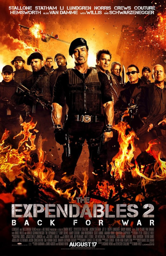 "Poster for ""The Expendables 2"""
