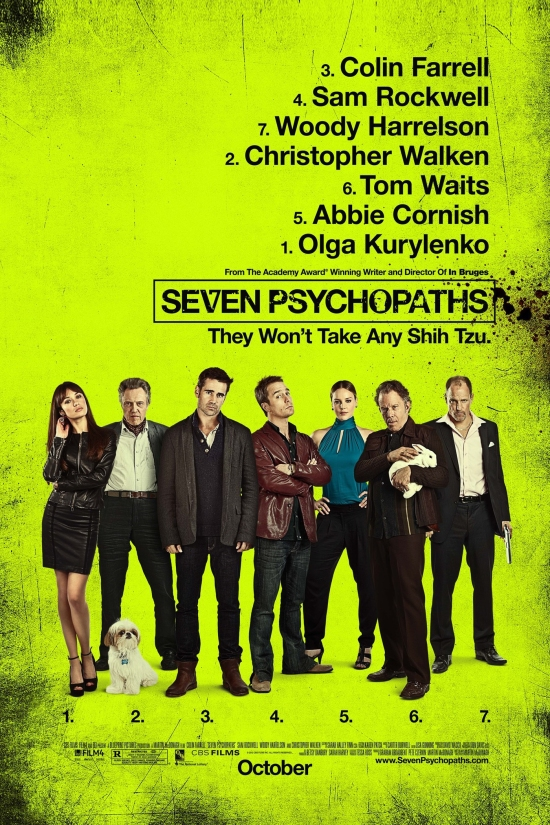 "Poster for ""Seven Psychopaths"""